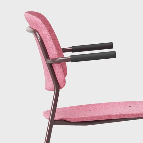 De Vorm - Hale pet felt stack Chair armrest pink