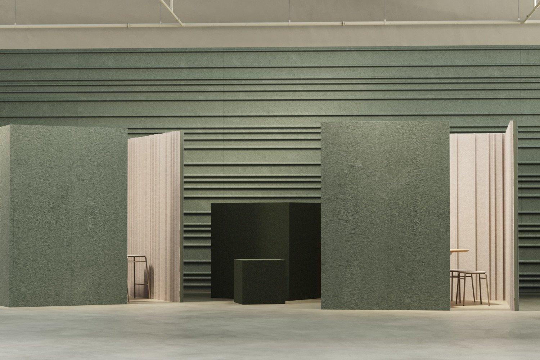 De Vorm Mute Fraction PET Felt Acoustic Panel cubicles-front