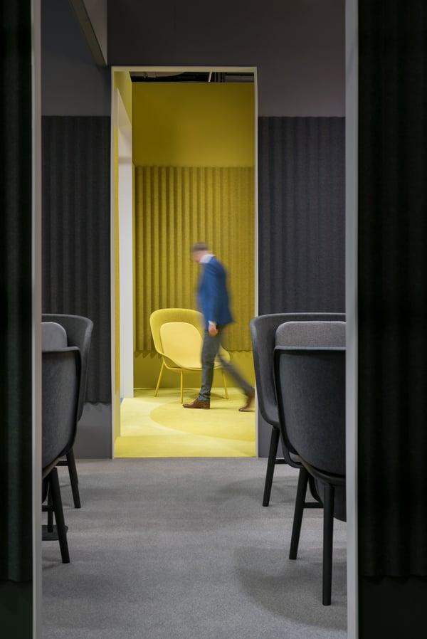 De-Vorm-Orgatec-2018-PET-Felt-POD-Chair-Nook-Chair-Yellow-LRG