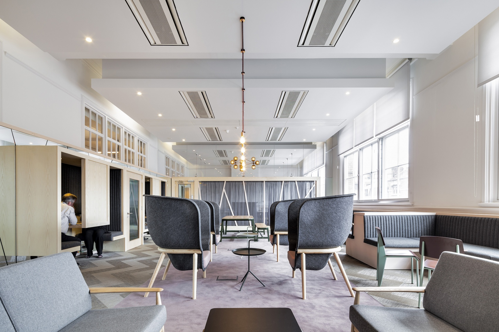 Pod chairs by De Vorm in East Side co-working space, created by The Office Group.